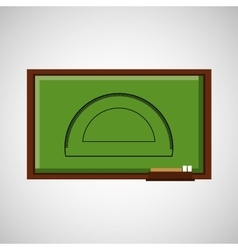 Education concept blackboard with protractor vector