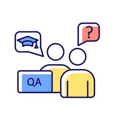 Faculty advisor rgb color icon vector