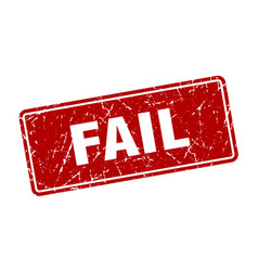 Fail stamp fail vintage red label sign vector