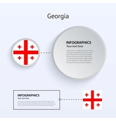 Georgia Country Set of Banners vector