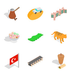 Global situation icons set isometric style vector