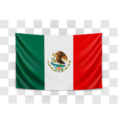 Hanging flag mexico united mexican states vector