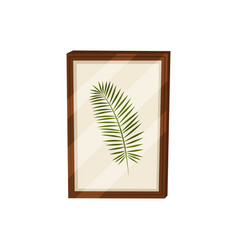 Herbarium in frame on white background picture vector