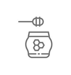 honey treatment line icon isolated on white vector image