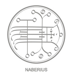 Icon with symbol demon naberius vector