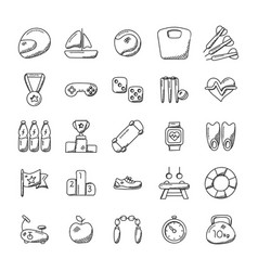Imaginative sports icon set vector