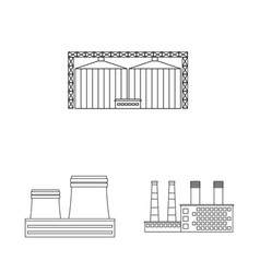 Isolated object manufacturing and company icon vector