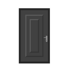 Isolated object of door and front sign collection vector