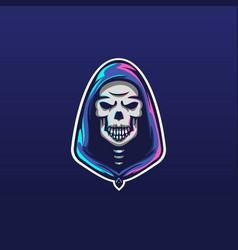 jumper skull icon mascot logo design template vector image
