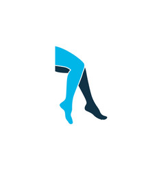 Leg icon colored symbol premium quality isolated vector