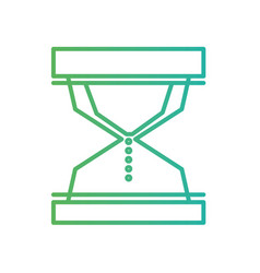 line hourglass object to know the time vector image