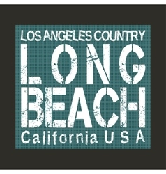 Long Beach California vector