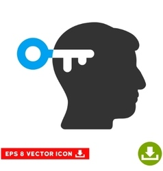 Mind Key Eps Icon vector