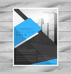 Modern business brochure design template in blue vector