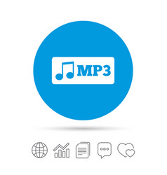 mp3 music format sign icon musical symbol vector image