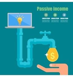 Passive income concept Cartoon vector