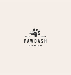 paw dash tech fast quick logo icon hipster vector image