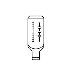 Peak flow meter linear icon portable vector