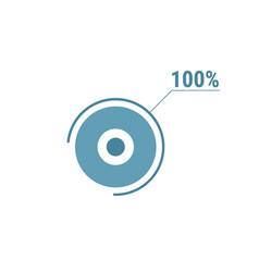 Percentage diagram graph 100 hundred percent vector