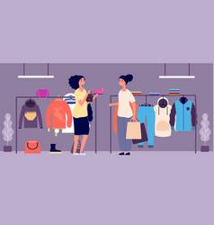 personal shopper shop assistant fashion stylist vector image