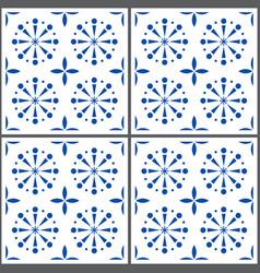 Portuguese tile pattern lisbon seamless vector