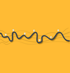 road trip and journey route winding road on a vector image