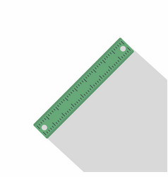 Ruler rectangular shape icon flat style vector