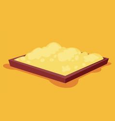 School sander sandbox symbol childhood vector