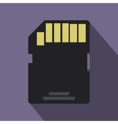 SD memory card icon flat style vector image