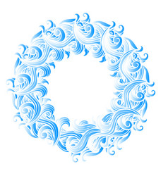 sea wave mandala vector image