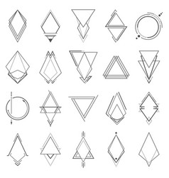 set minimalistic geometric elements vector image