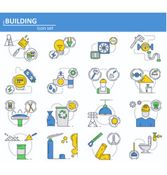 Set of construction and building materials vector