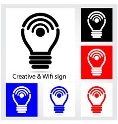 Set of creative light bulb vector image