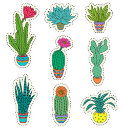 Set of hand drawn houseplant vector