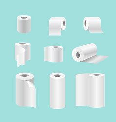 set of realistic paper rolls vector image