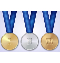 Set of sportive award medals vector