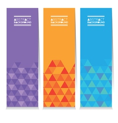 Set Of Three Colorful Geometric Vertical Banners vector image