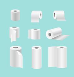 Set realistic paper rolls vector
