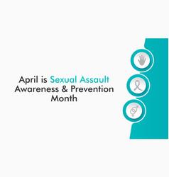 sexual assault awareness month vector image