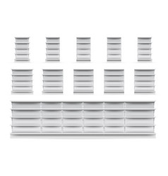 shop shelves set vector image