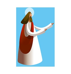 Side view jesus christ praying vector