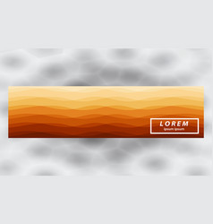 Smooth wavy lines abstract wave banner template vector