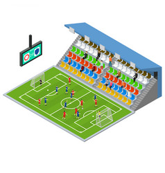 soccer stadium competition isometric view vector image