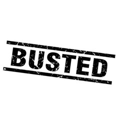 Square grunge black busted stamp vector