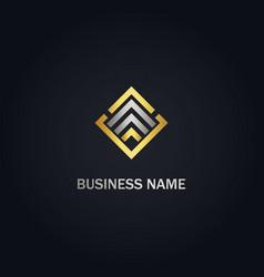 square line triangle company logo vector image