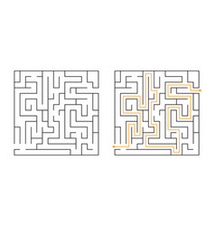 square maze labyrinth game vector image