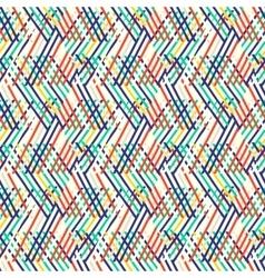 Striped chevron vintage pattern vector