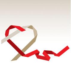 stylized ribbon heart vector image