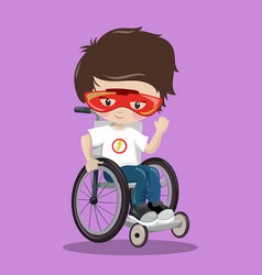 Superhero in a wheelchair black ironman 04 vector