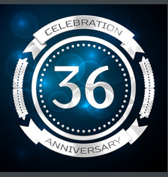 thirty six years anniversary celebration with vector image